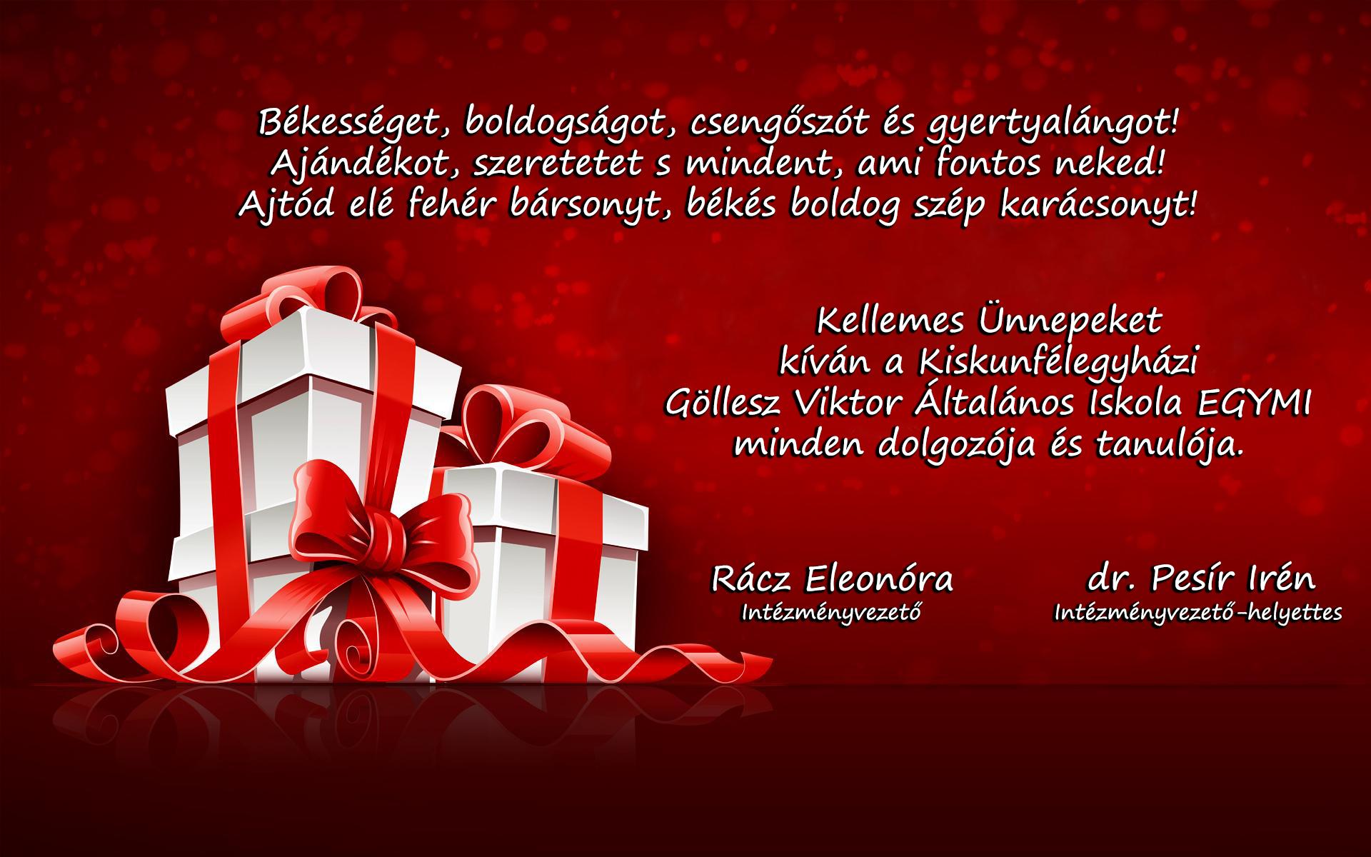 EGYMI karácsonyi üdvözlőlap